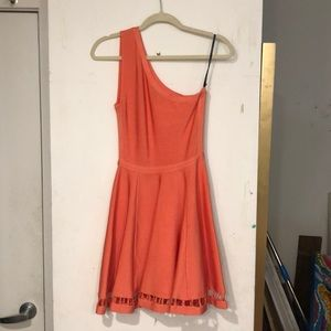 Guess By Marciano coral one shoulder dress